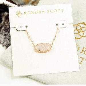Kendra Scott Elisa Necklace white Drusy rose gold